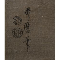"View 5: (After) Kitagawa Utamaro (Japanese, 1753-1806) ""Three Beauties in the Down Town"" Wood Block Print"