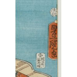 "View 8: (After) Kitagawa Utamaro (Japanese, 1753-1806) ""Three Beauties in the Down Town"" Wood Block Print"
