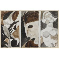 View 4: Poletti (American, 1908-1996) Watercolors on Paper