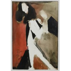 View 8: Poletti (American, 1908-1996) Watercolors on Paper