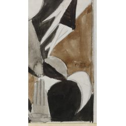 View 5: Poletti (American, 1908-1996) Watercolors on Paper