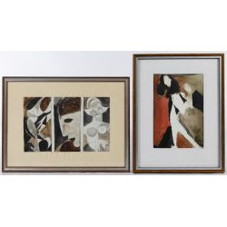 View 2: Poletti (American, 1908-1996) Watercolors on Paper