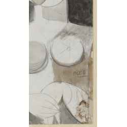 View 7: Poletti (American, 1908-1996) Watercolors on Paper
