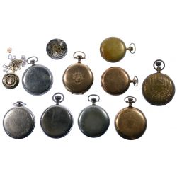 View 2: Pocket Watch, Case and Work Assortment