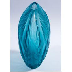 "View 4: Lalique Crystal Blue ""Filicaria"" Bud Vase"