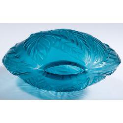 "View 5: Lalique Crystal Blue ""Filicaria"" Bud Vase"