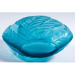 "View 6: Lalique Crystal Blue ""Filicaria"" Bud Vase"