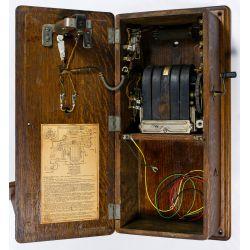 View 2: Western Electric Crank Telephone in Oak Case