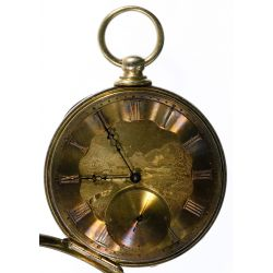 View 2: T F Cooper 14k Gold Open Face Pocket Watch