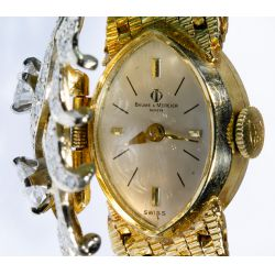 View 2: Baume & Mercier 14k Gold and Diamond Wrist Watch