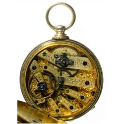 View 5: T F Cooper 14k Gold Open Face Pocket Watch