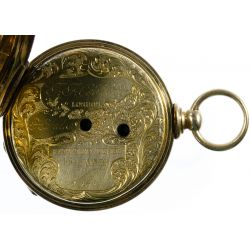 View 4: T F Cooper 14k Gold Open Face Pocket Watch