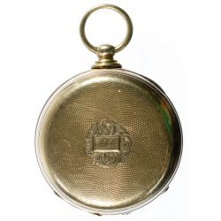 View 3: T F Cooper 14k Gold Open Face Pocket Watch