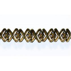 View 3: 14k Gold and Diamond Bracelet