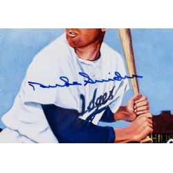 View 4: Mickey Mantle, Duke Snider and Willie Mays Autographed Print