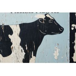 """View 3: Hand Painted """"Registered Holsteins"""" Advertising Sign"""