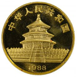 View 3: China: 1988 100 Yuan Gold Unc.