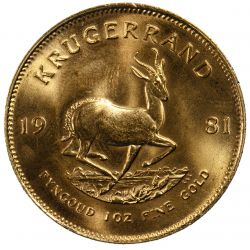 View 2: South Africa: 1981 Krugerrand 1oz. Gold Unc.