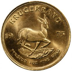 View 2: South Africa: 1975 Krugerrand 1oz. Gold Unc.