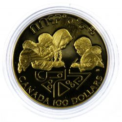 View 2: Canada: 1990 $100 Gold Unc.