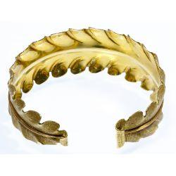 View 2: 18k Two-Tone Gold Cuff Bracelet