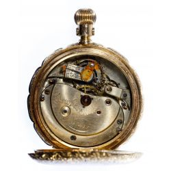 View 4: Newport 14k Gold Hunter Case Pocket Watch