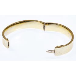 View 2: 14k Gold Hinged Bangle Bracelet