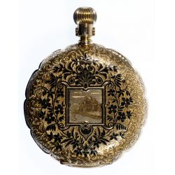 View 3: Newport 14k Gold Hunter Case Pocket Watch