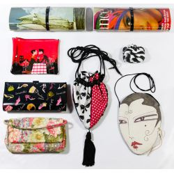 View 5: Leather Purse, Clutch, Printed and Change Purse Assortment