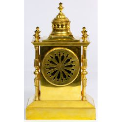 View 3: Japy Freres Brass Mantel Clock