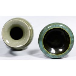 View 3: Korean Celadon Vase and Bowl