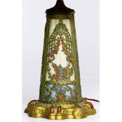 View 5: Northwest Art Shade Co. Slag Glass Table Lamp