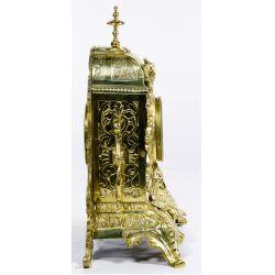 View 4: Dostal French Louis XVI Brass Mantel Clock