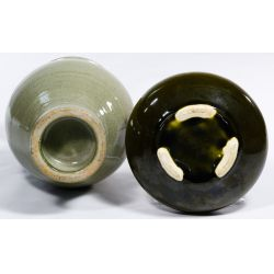 View 4: Korean Celadon Vase and Bowl