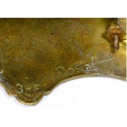 View 9: Dostal French Louis XVI Brass Mantel Clock