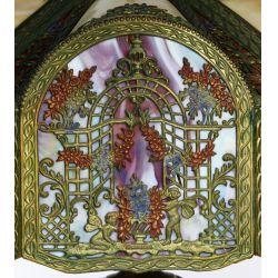 View 6: Northwest Art Shade Co. Slag Glass Table Lamp