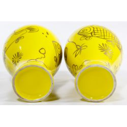 View 6: Chinese Yellow Glazed Meiping Vases