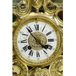 View 5: Dostal French Louis XVI Brass Mantel Clock