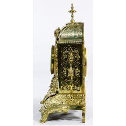 View 2: Dostal French Louis XVI Brass Mantel Clock