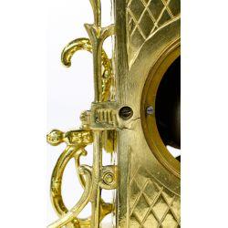 View 7: Dostal French Louis XVI Brass Mantel Clock