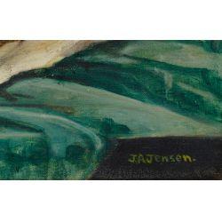 View 5: J.A. Jensen (20th Century) Oil on Canvas