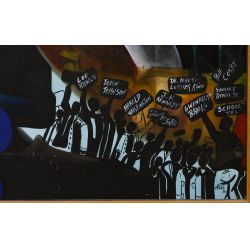 "View 6: Bill Ross (African American, 20th Century) ""Training for Leadership"" Oil on Canvas"