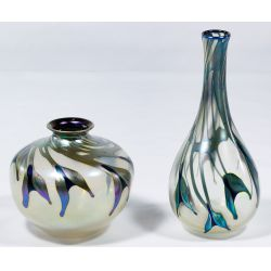 View 4: Charles Lotton Art Glass Vases