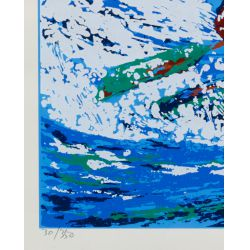 "View 4: Ted Tanabe (Canadian / American, 1962-2009) ""Champions"" Serigraph"