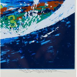 "View 3: Ted Tanabe (Canadian / American, 1962-2009) ""Champions"" Serigraph"