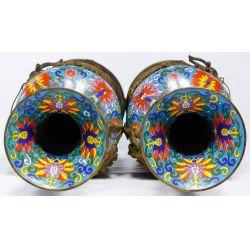 View 5: Asian Cloisonne Floor Vases