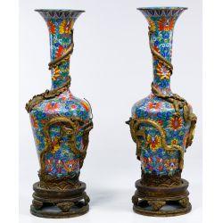 View 3: Asian Cloisonne Floor Vases