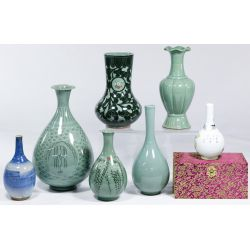 View 2: Asian Celedon Vase Assortment