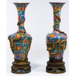 View 2: Asian Cloisonne Floor Vases