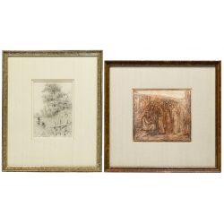 View 4: Works on Paper and Wood Carving Assortment